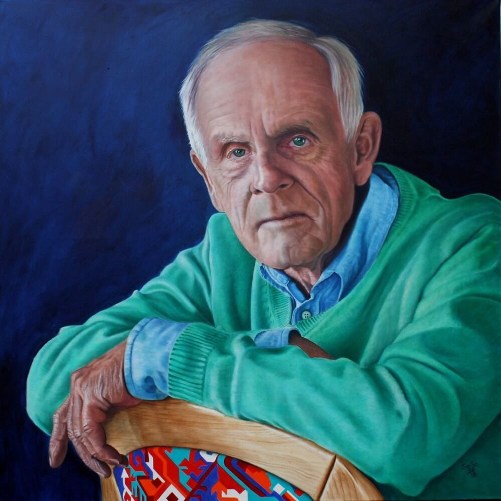 Bernhard, oil on canvas, 100 x 100 cm, 2018 (reference photo: Hans-Joachim Reiter)