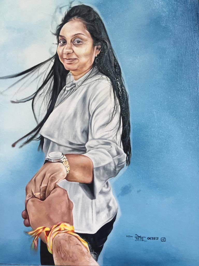 Ölporträt von Ucho
