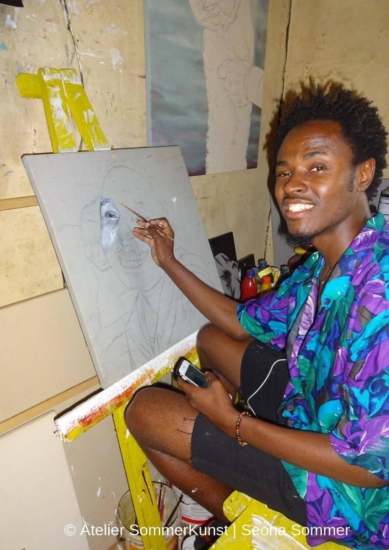 Foto von Ochu bei der Arbeit